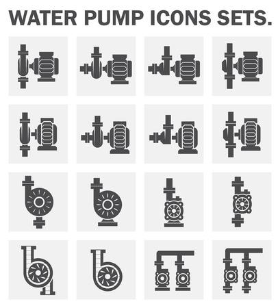 Waterpomp iconen sets.