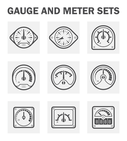 adjust: Gauge and meter icons sets. (easy to adjust pointer) Illustration