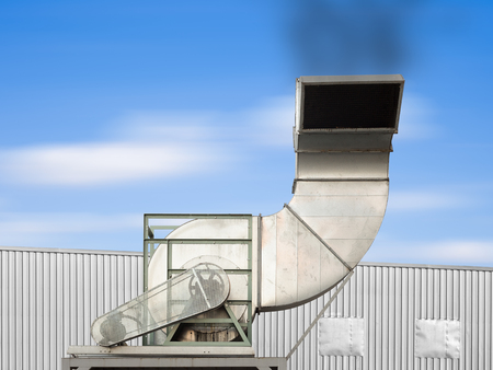 chiller: Air duct and ventilation system of factory.