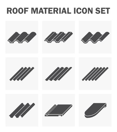 acero: establece techo icono de material.