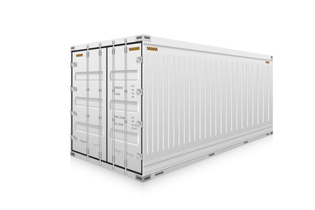 Vector of cargo container isolated on white background. Stock Vector - 49871097