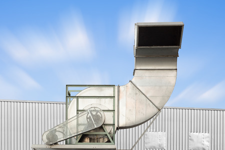 air duct: Air duct and ventilation system of factory.