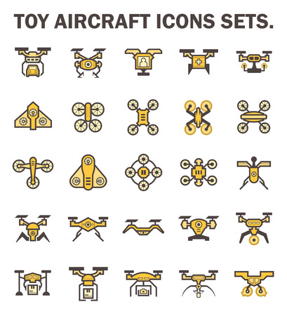 spotter: Toy aircraft icons sets. Illustration
