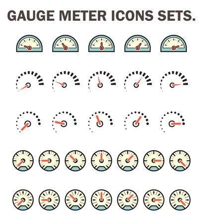 speed car: Gauge meter icons sets.