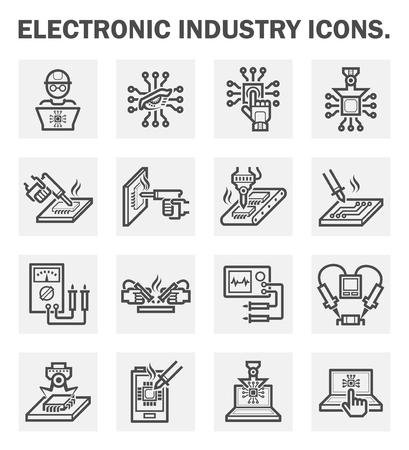componentes: Iconos de la industria Electrónica.