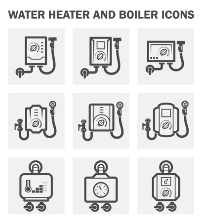 boiler: Water heater and boiler icons.