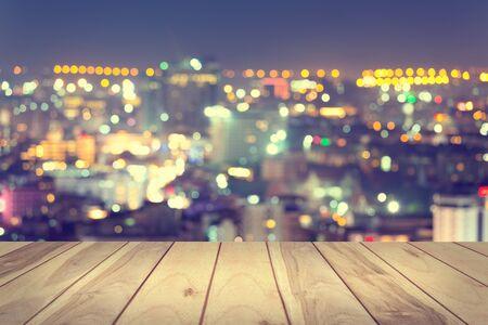 sunset city: Bokeh of pattaya city at night.