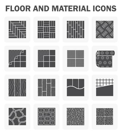 Pavimenti e le icone di materiale set. Archivio Fotografico - 50246131