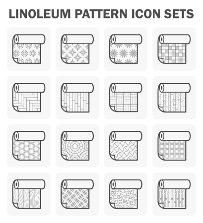 linoleum: Linoleum pattern icon set.