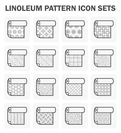 linoleum: Linoleum pattern icon set.