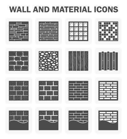 Mur et matériel jeux d'icônes.