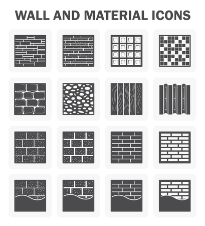 siding: Wall and material icon sets.