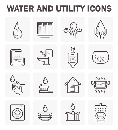 Water and utility icons design. 矢量图像