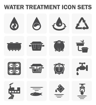 aguas residuales: icono de tratamiento de aguas establece el diseño.