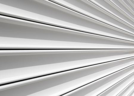 white door: Perspective of rolling door or shutter door pattern.