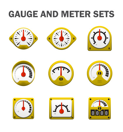 gauge or meter sets. Illustration