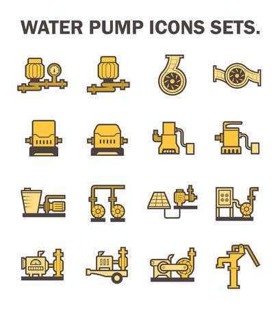 air compressor: Water pump icons sets.