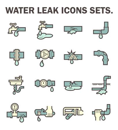 Waterlek vector iconen sets ontwerp.