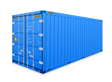 container freight: cargo container isolated on white background.