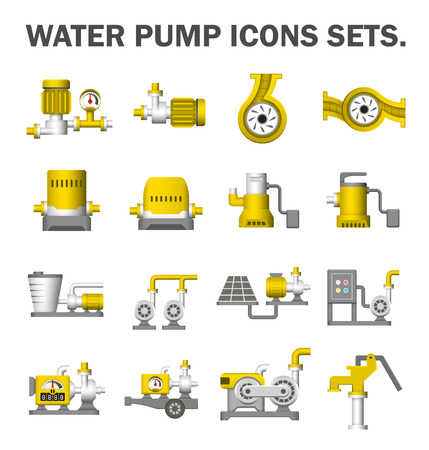 water icon: Water pump icons sets.
