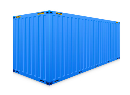cargo container: cargo container isolated on white background.