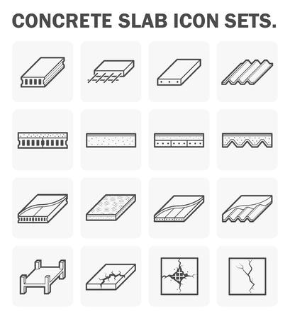 Concrete slab icon sets design. Иллюстрация