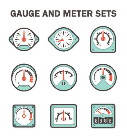gauge: Gauge meter icons sets.