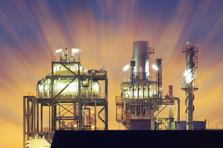 Industry plant with sky background.