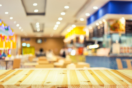food court: Defocused or blurred photo of food court.
