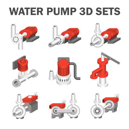 bomba de agua: para bombas de agua aislados en blanco.