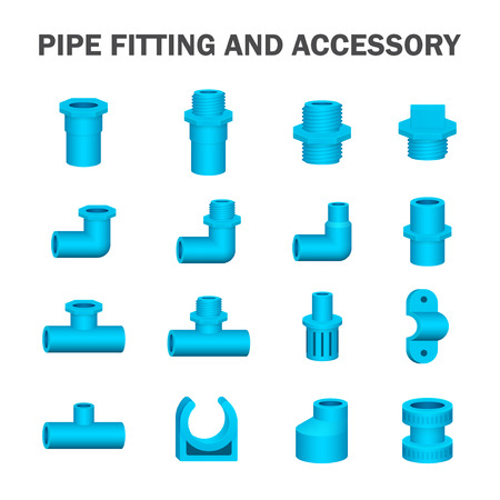 blue water: pipe fitting and accessory.