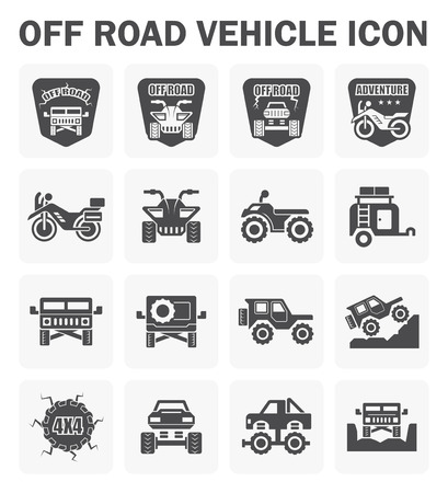 off road vehicle: icon and design of off road vehicle.