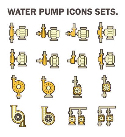 Water pump vector icon sets.