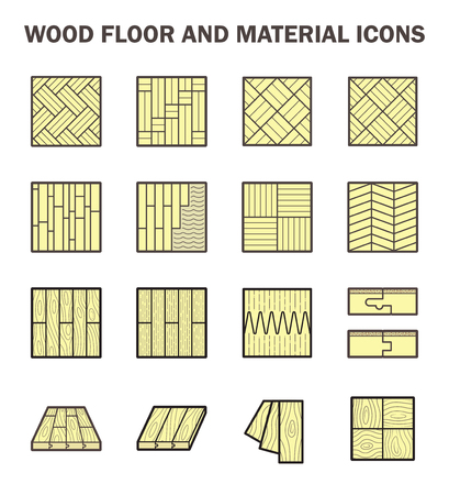 wood floor: Wood floor and material vector icon sets design. Illustration