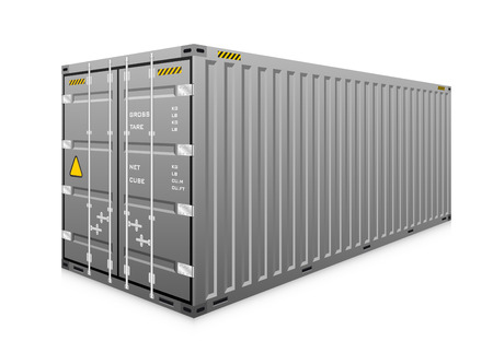 Vector of cargo container isolated on white.