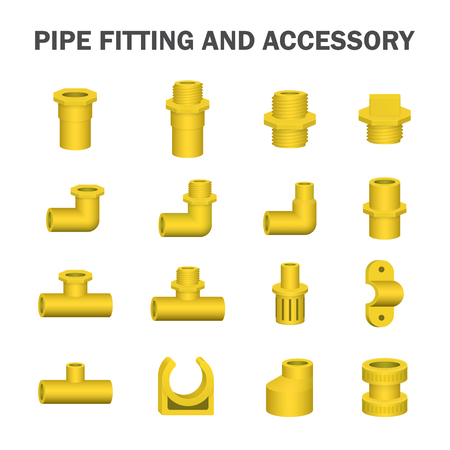 fitting: Vector of pipe fitting and accessory.