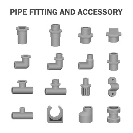 piping: Vector of pipe fitting and accessory.