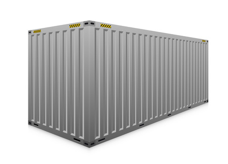 cargo: Vector of cargo container isolated on white.