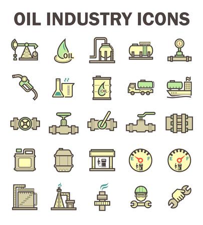 Öl- und Gasindustrie Icon-Sets.