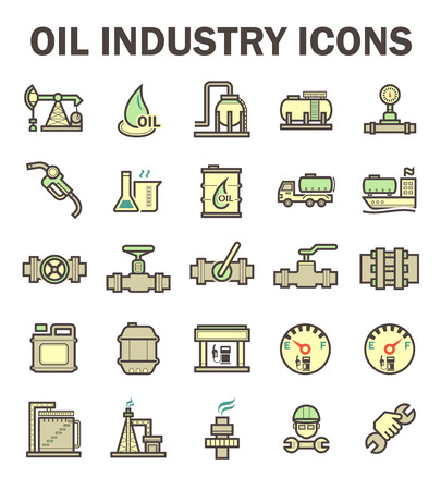 compressed gas: Oil and gas industry icon sets. Illustration