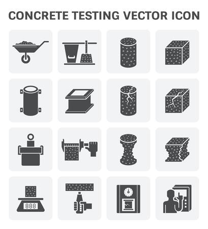 Concrete testing vector icon set design. Vector Illustration