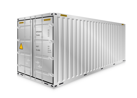 shipping: Vector of cargo container or shipping container for logistics and transportation isolated on white background.