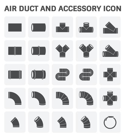 Vector-Symbol Von Luftkanal Und Zubehör Für Die Klimaanlage Oder ...