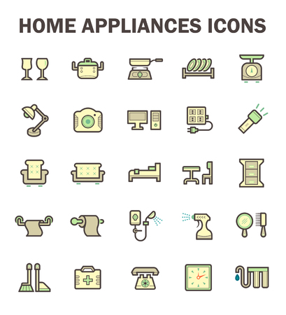 appliance: Home appliance vector icon set.