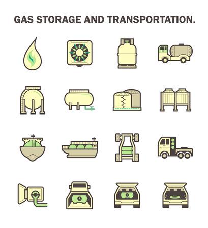ガス貯蔵・輸送のアイコンを設定します。