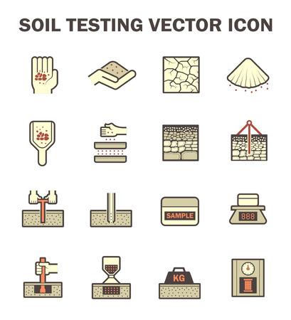 soil: Vector icon of soil and soil testing. Illustration
