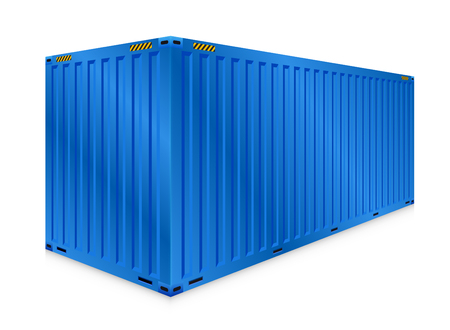 cargo container or shipping container for logistics and transportation isolated on white background.