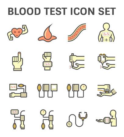 hematopoietic: Blood sugar test or blood glucose test icon.
