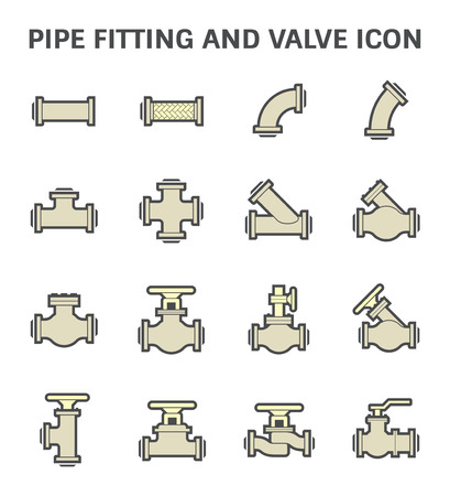 pipe connector: Pipe connector and valve for plumbing and piping work.