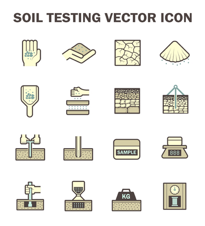 bowels: icon of soil and soil testing. Illustration